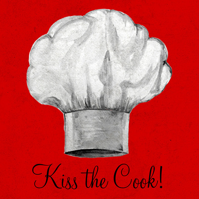 Kiss the Cook Prints by Gina Ritter