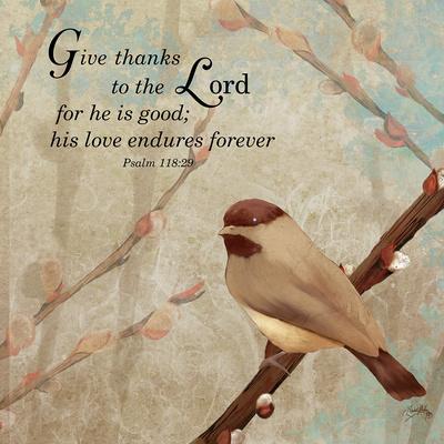 Give Thanks Print by Elizabeth Medley