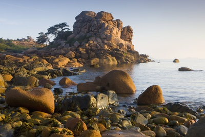 Rock Formations on the Cote De Granit Rose, France Photographic Print by Roland Gerth