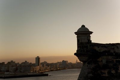 El Morro Fortress at Sunset, Havana, Cuba, West Indies, Central America Photographic Print by Angelo Cavalli