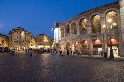 Roman Arena at Night, Verona, Italy Photographic Print by Martin Child