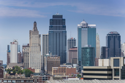 View from the Liberty Memorial over Kansas City, Missouri, United States of America, North America Photographic Print by Michael Runkel