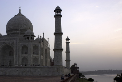 Yamuna River and Taj Mahal, UNESCO World Heritage Site, Agra, Uttar Pradesh, India, Asia Photographic Print by Balan Madhavan