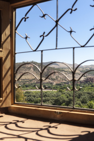 A View of the Ourika Valley as Glimpsed Through the Window of a Traditional Berber House Photographic Print by Charlie Harding