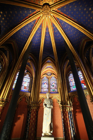 St. Louis Ix Commonly St. Louis, the Holy Chapel, Paris, France, Europe Photographic Print by  Godong