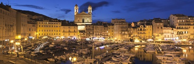 Old Town with Old Harbour and Jean Baptiste Church, Bastia, Corsica, France, Mediterranean, Europe Photographic Print by Markus Lange