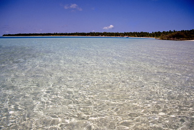 Clear Water Off Bangaram Island, Lakshadweep Islands, India, Indian Ocean, Asia Photographic Print by Balan Madhavan