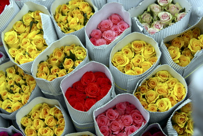 Flowers for Sale, Delhi, India, Asia Photographic Print by Balan Madhavan