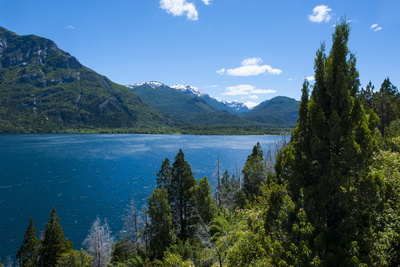 Beautiful Mountain Lake in the Los Alerces National Park Photographic Print by Michael Runkel