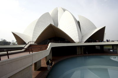 Bahai Lotus Temple, Delhi, India, Asia Photographic Print by Balan Madhavan