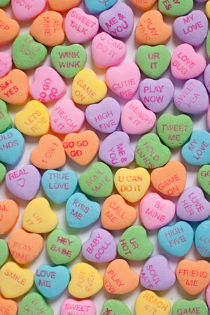 Candy Valentine Hearts Prints