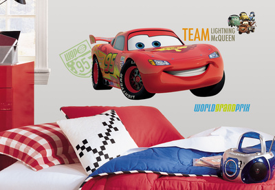 Cars 2 Peel & Stick Giant Wall Decal Wall Decal
