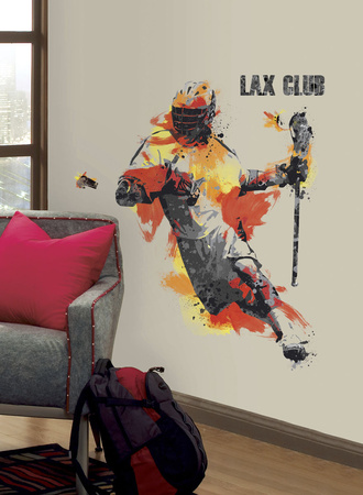 Men's Lacrosse Champion Peel and Stick Giant Wall Decal Wall Decal