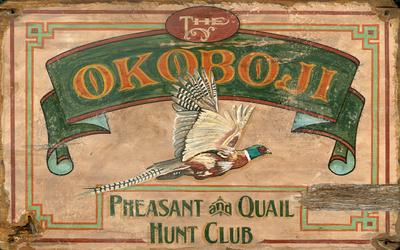 The Okoboji Hunt Club Vintage Wood Sign Wood Sign