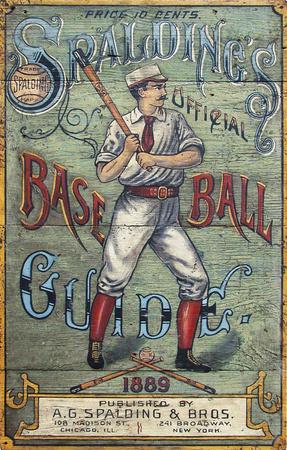 Spaulding's Baseball Guide Vintage Vintage Wood Sign Wood Sign
