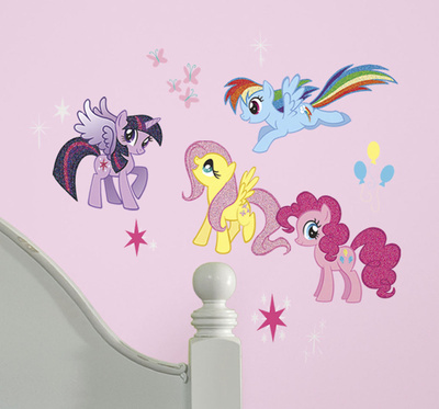 My Little Pony Glitter Peel and Stick Wall Decal Wall Decal
