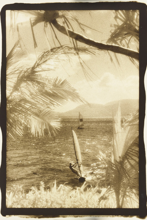 Wind surfing, Whitsunday Islands, Australia Photographic Print by Theo Westenberger