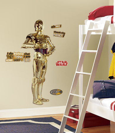 Star Wars Classic C3PO Peel & Stick Giant Wall Decal Wall Decal