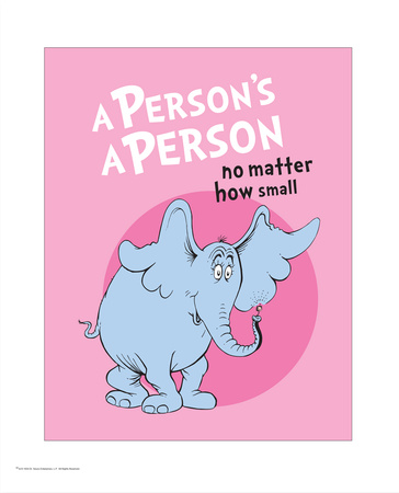 A person is a person, horton hears a who, artwork by Dr. Seuss