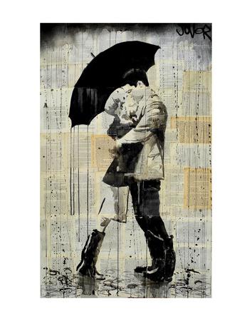 The Black Umbrella Prints by Loui Jover