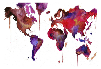 Watercolor Map No. 1 Posters by Jessica Durrant