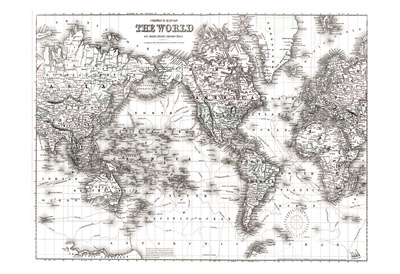 World Map White Prints by  Ophelia & Co.