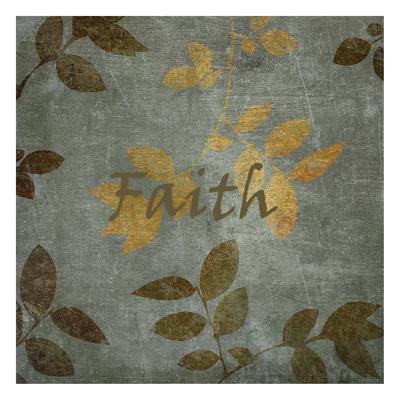 Faith Leaves Print by Kristin Emery