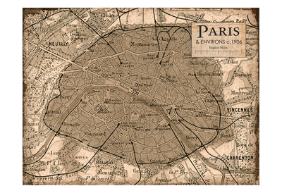 Environs Paris Beige Prints by Carole Stevens