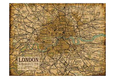 Environs London Sepia Posters by Carole Stevens