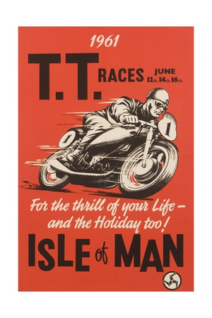 T.T. Races Isle of Man Poster Gicléetryck