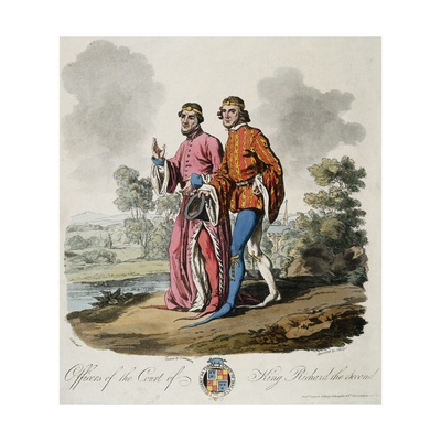 Officers of the Court of King Richard the Second Giclee Print by J. Atkinson and J. Merigot