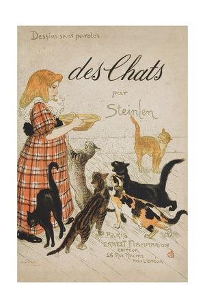 Des Chats Book Cover Giclee Print by Théophile Alexandre Steinlen