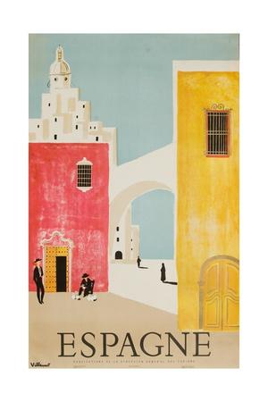 Espagne Poster Giclée-tryk af Bernard Villemot
