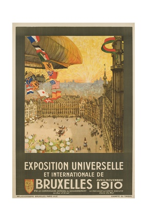 Exposition Universelle Et Internationale De Bruxelles Poster Gicléetryck av Henri Cassiers
