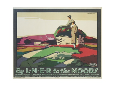 By L.N.E.R. to the Moors Poster Giclee Print by Tom Grainger