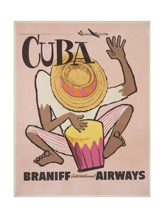 Cuba Braniff International Airways Giclee Print