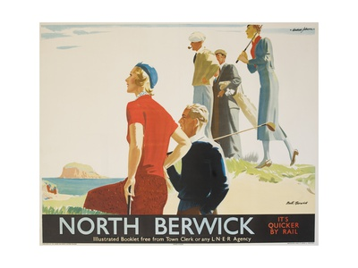 North Berwick Poster Giclee Print by Andrew Johnson
