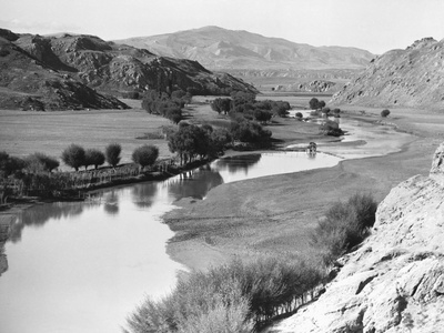 River and Valley in Kurdistan Photographic Print