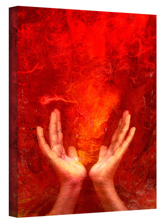 Chakra Fire gallery-wrapped canvas Gallery Wrapped Canvas by Elena Ray