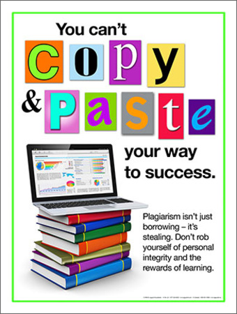 Can't Copy anti-plagiarism education motivation poster