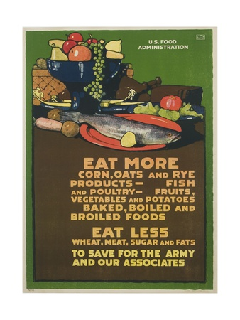 Eat More Corn, Oats and Rye Poster Giclee Print by L.n. Britton