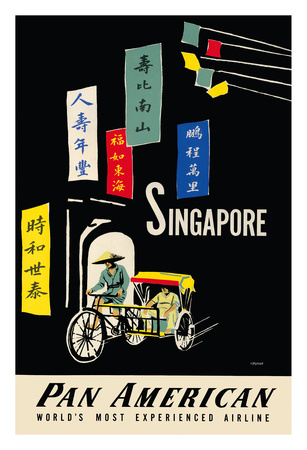 Singapore - Pan American Airlines (PAA) Giclee Print by A. Amspoker