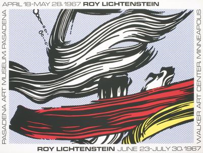 Brushstrokes at Pasadena Art Museum Serigraph by Roy Lichtenstein