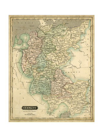 Thomson's Map of Germany Prints by  Thomson