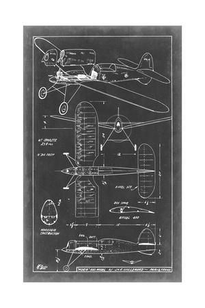 Aeronautic Blueprint II Prints by  Vision Studio