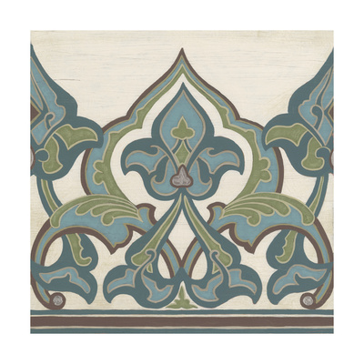 Non-Embellished Persian Frieze I Prints by Erica J. Vess