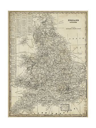 Antique Map of England Print by  Vision Studio