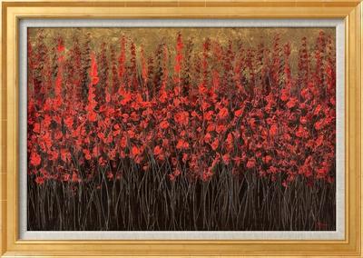Kızıl Kahverengi Çerçeveli Dokuma Sanat