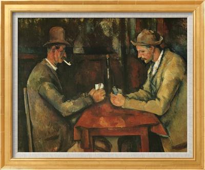 The Card Players Çerçeveli Dokuma Sanat