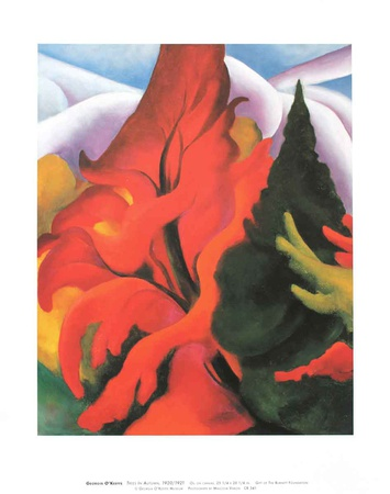 Trees in Autumn Prints by Georgia O'Keeffe